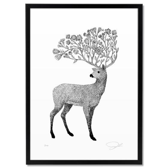 Image of Print: Flowery Deer