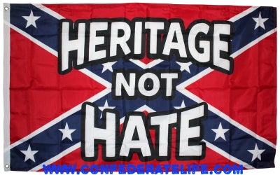 """Image of Heritage Not Hate 3'x5' Flag """"Super Poly"""""""