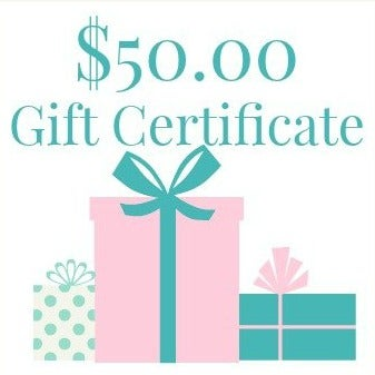 Image of $50.00 Gift Certificate