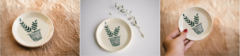 Image of Platito/Joyero de cerámica ilustrado y hecho a mano
