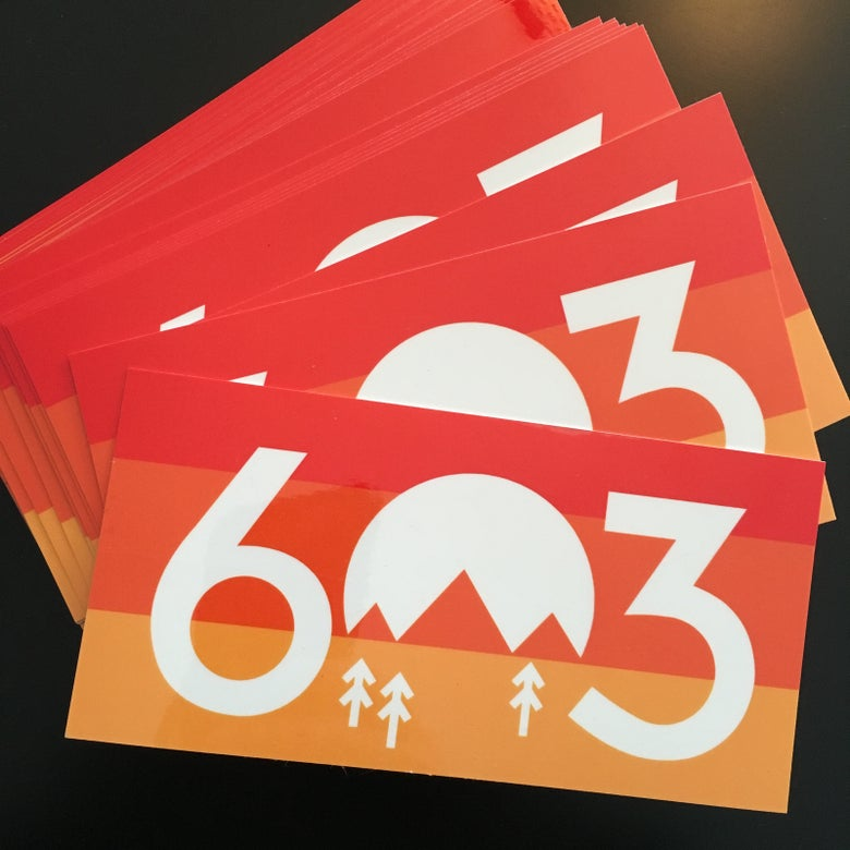 "Image of 603 Sunset vinyl Sticker (6""x3"")"