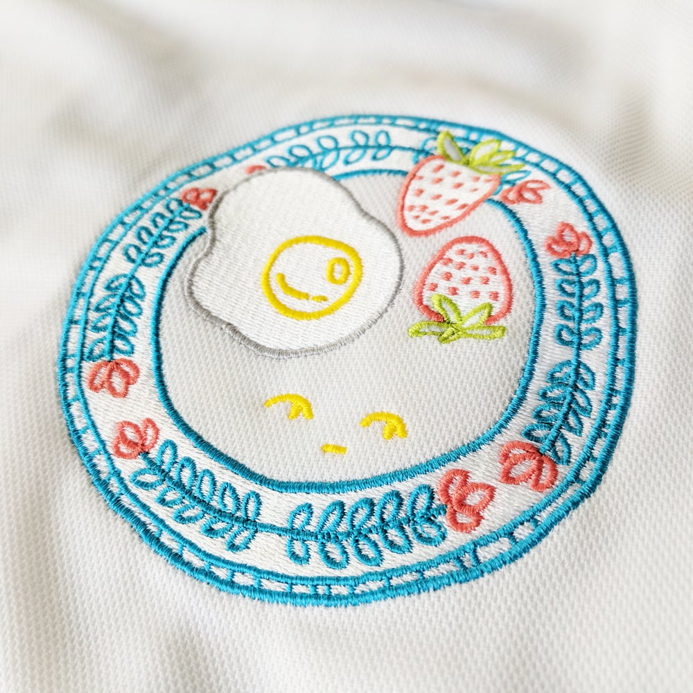 Image of Fancy Breakfast (embroidered patch shirt)