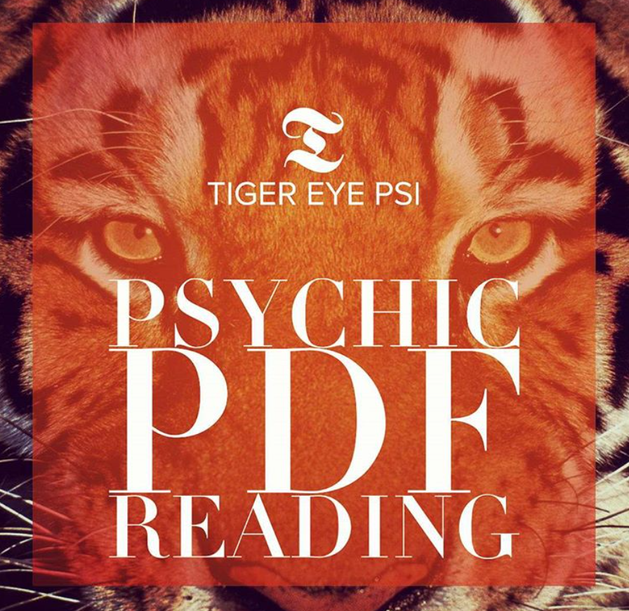 Psychic Pdf Reading 2 Questions Tiger Eye Psi