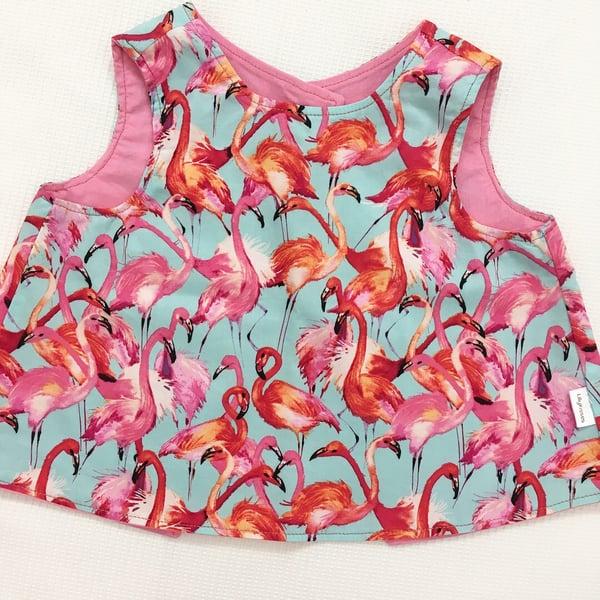 Image of Flashing Flamingo Backless Top