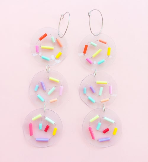 Image of Confetti reef - hoop dangles