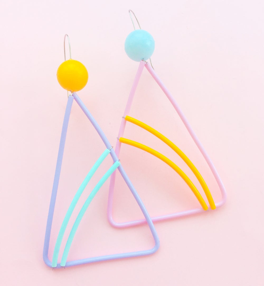 Image of Windsurfer- Triangle Memphis earrings ss17/18
