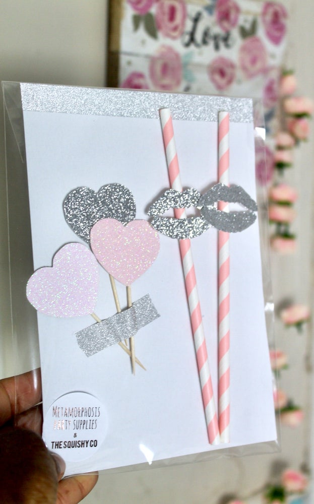 Image of Personalised number and letter and word straws