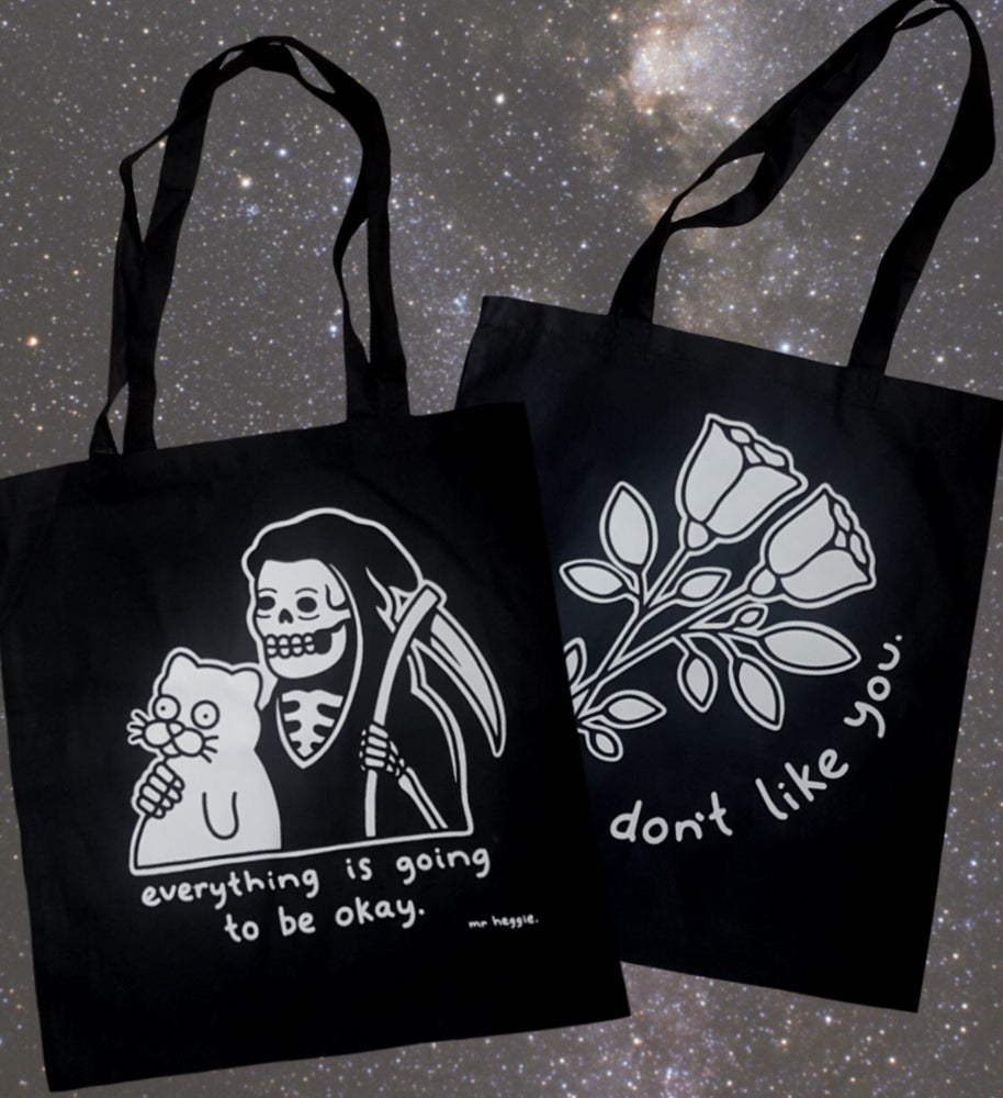 Image of The black tote bags