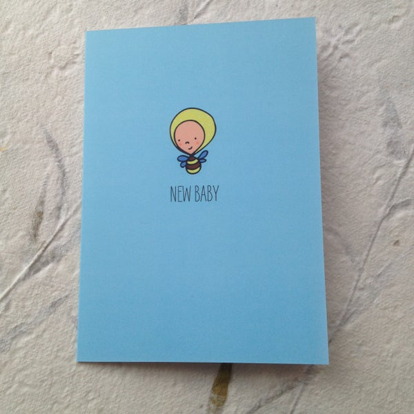 Image of New Baby Card with Bee