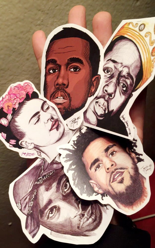 Image of Portrait Sticker Pack