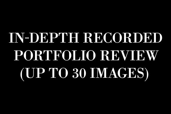 Image of In-Depth Recorded Portfolio Review (Up to 30 Images)
