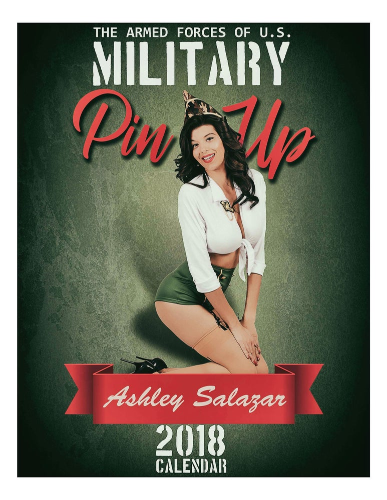 "Image of Ashley Salazar ""Honoring America's Military Pin-Up 2018 Calendar"""