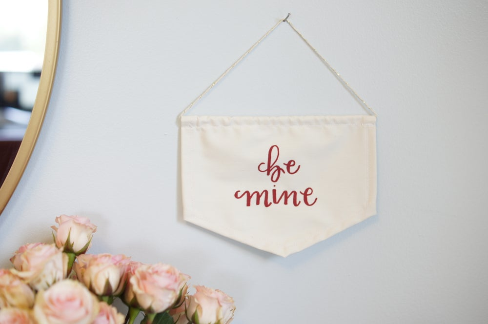 Image of Be Mine Mini Flag (Red or Gold)