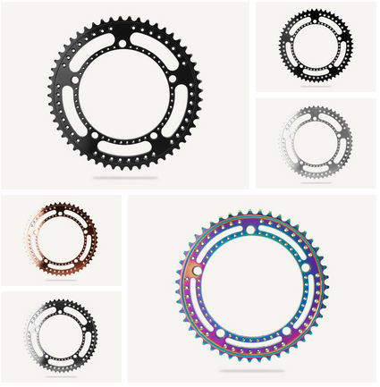 Image of Bespoke Drillium Track Chainrings - different sizes, colors, designs