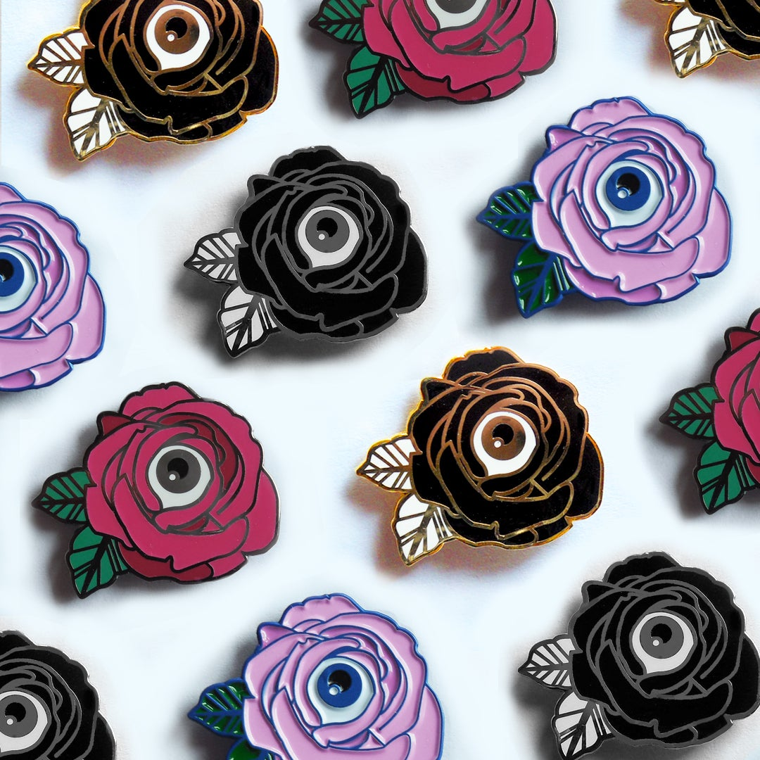 Image of Flower of My Eye Enamel Pins