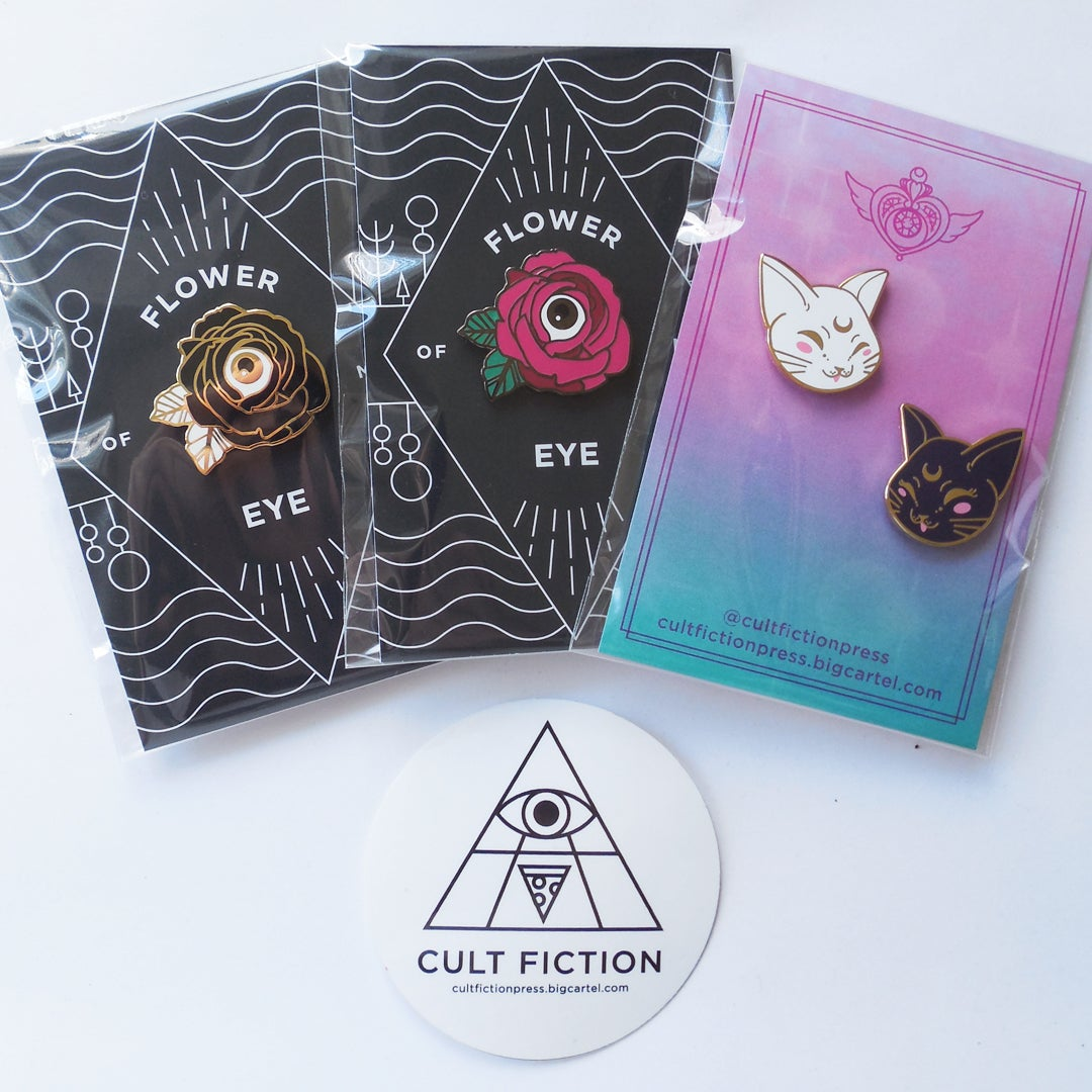 Image of Artemis & Luna Enamel Pin Set