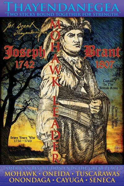 Image of Joseph Brant Poster, 24 x 36. Offset Lithograph, Signed.