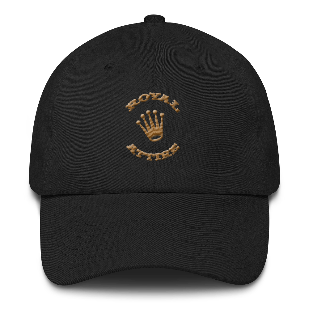Image of Black and Dark Gold Dad Hat
