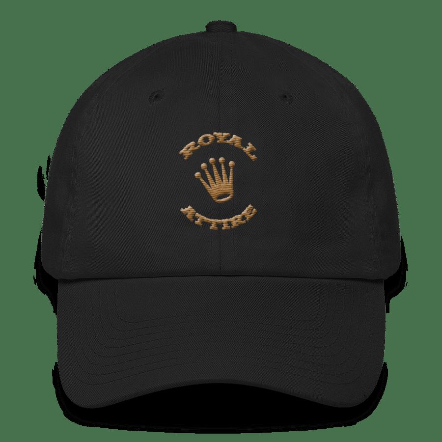Image of Black and Dark Gold Dad Hat