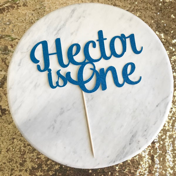 Image of First Birthday Cake Topper Style 3