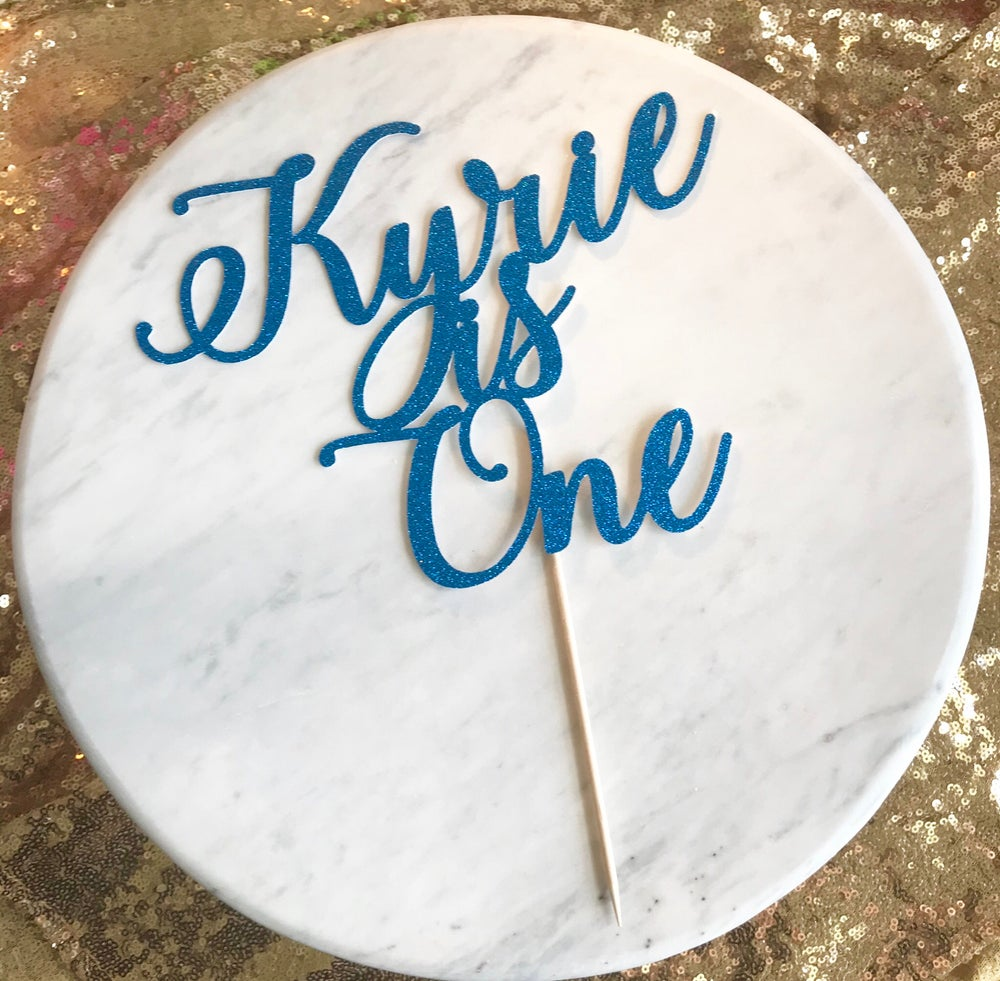 Image of First Birthday Cake Topper Style 2
