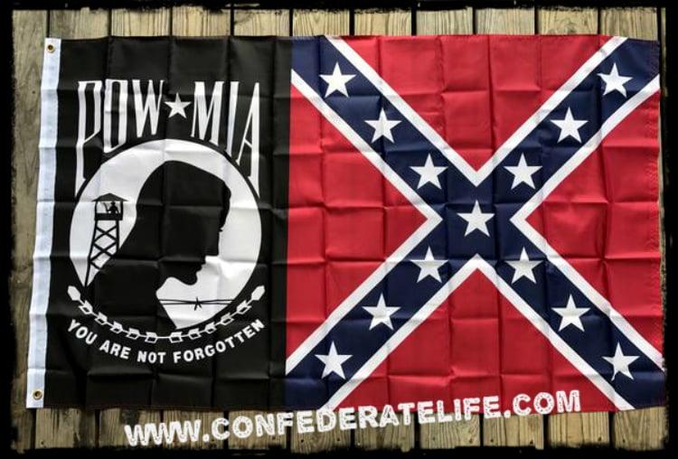 Image of Pow-Rebel 3'x5' Flag