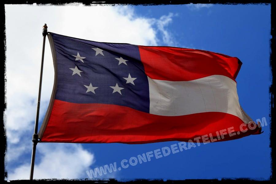 Image of 1st National, Confederate Flag / Stars & Bars 3'x5' Flag