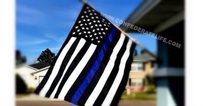 Image of Blue Lives Matter / Thin Blue Line 3'x5' Flag