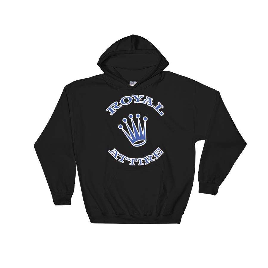 Image of Royal Blue and White Logo Hoody