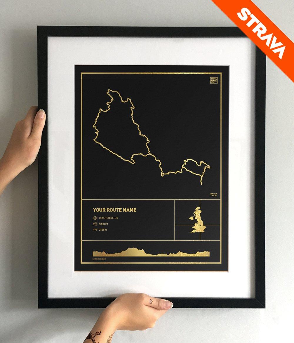 Image of Personalised Gold Foil Art Print
