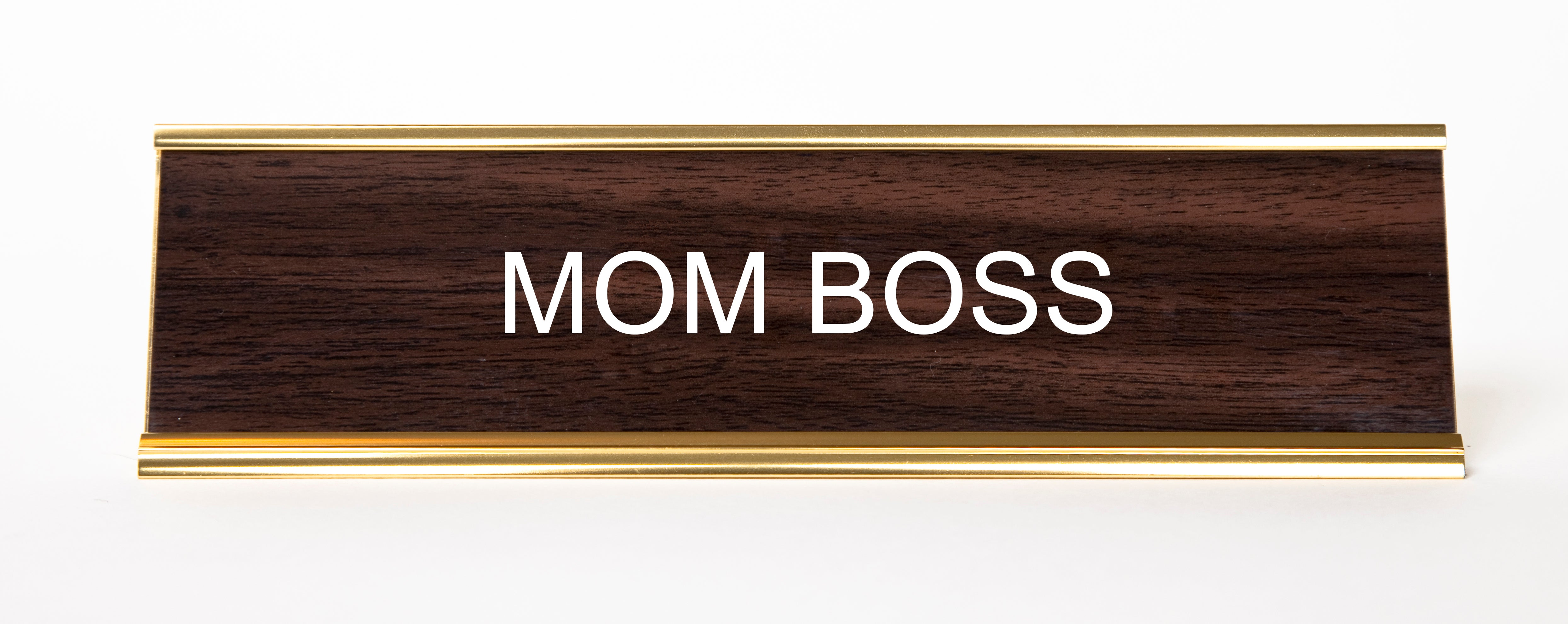 Mom Boss Nameplate Hesaidshesaid
