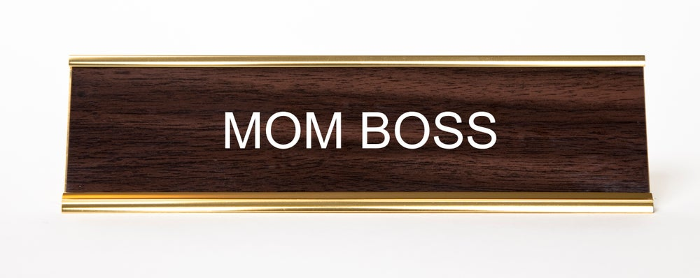Image of Mom Boss nameplate