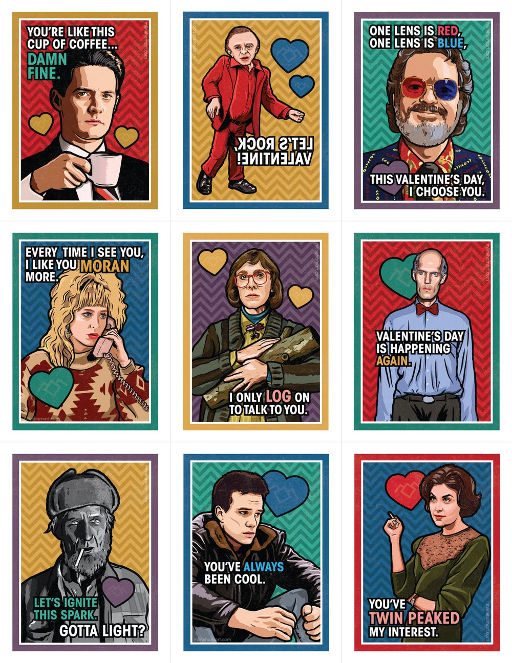 Damn Fine Valentine's Day Card Pack