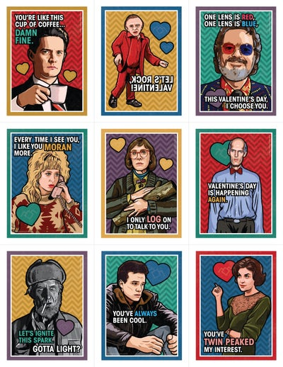 Image of READ DESCRIPTION! Twin Peaks Valentine's Day Card Pack