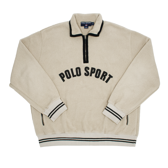 Image of Polo Sport Ralph Lauren Vintage Fleece 1/4 Zip Spell Out