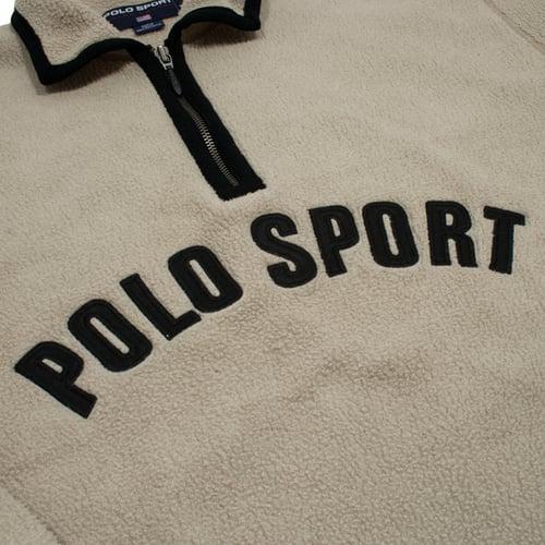 Image of Polo Sport Ralph Lauren Vintage Fleece 1/4 Zip Spell Out