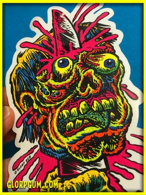 Knife head sticker