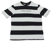 Image of Stripe Tee Black/Grey