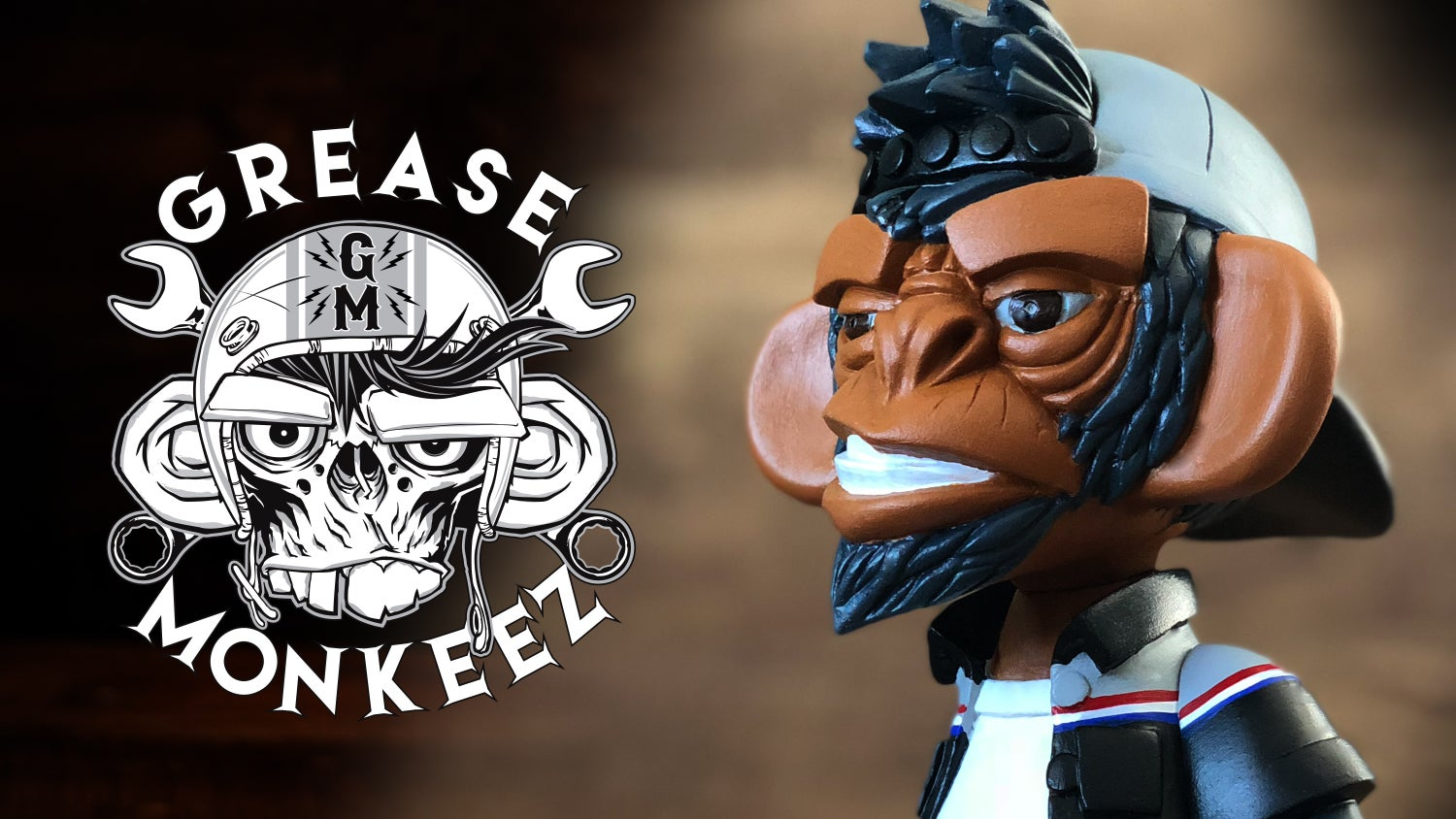 Image of Grease Monkeez - Custom Painted Art Toy (Chevy Colors)