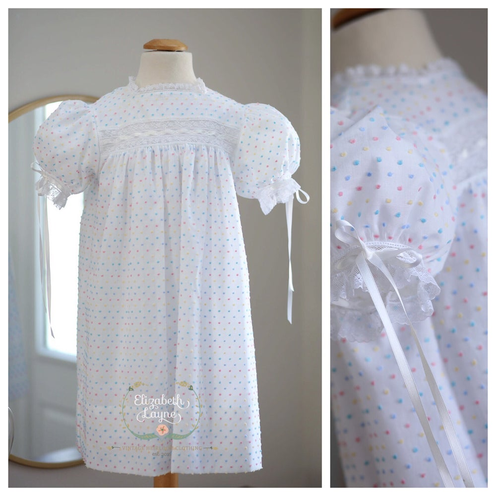Image of Dotted Swiss 'Sutherland' Heirloom Dress