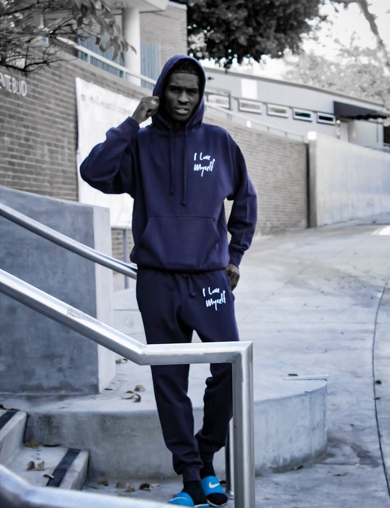 Image of Navy ILoveMyself Sweatsuit
