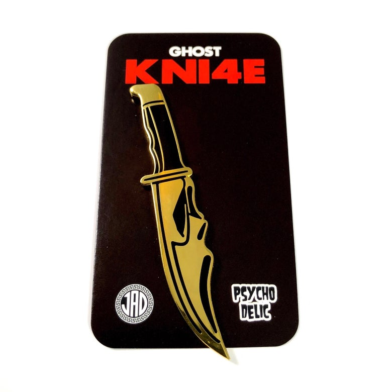 Image of Ghost Knife GOLD (Enamel Pin)