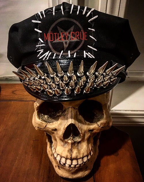 Image of Motley Crue Spiked Officer Hat