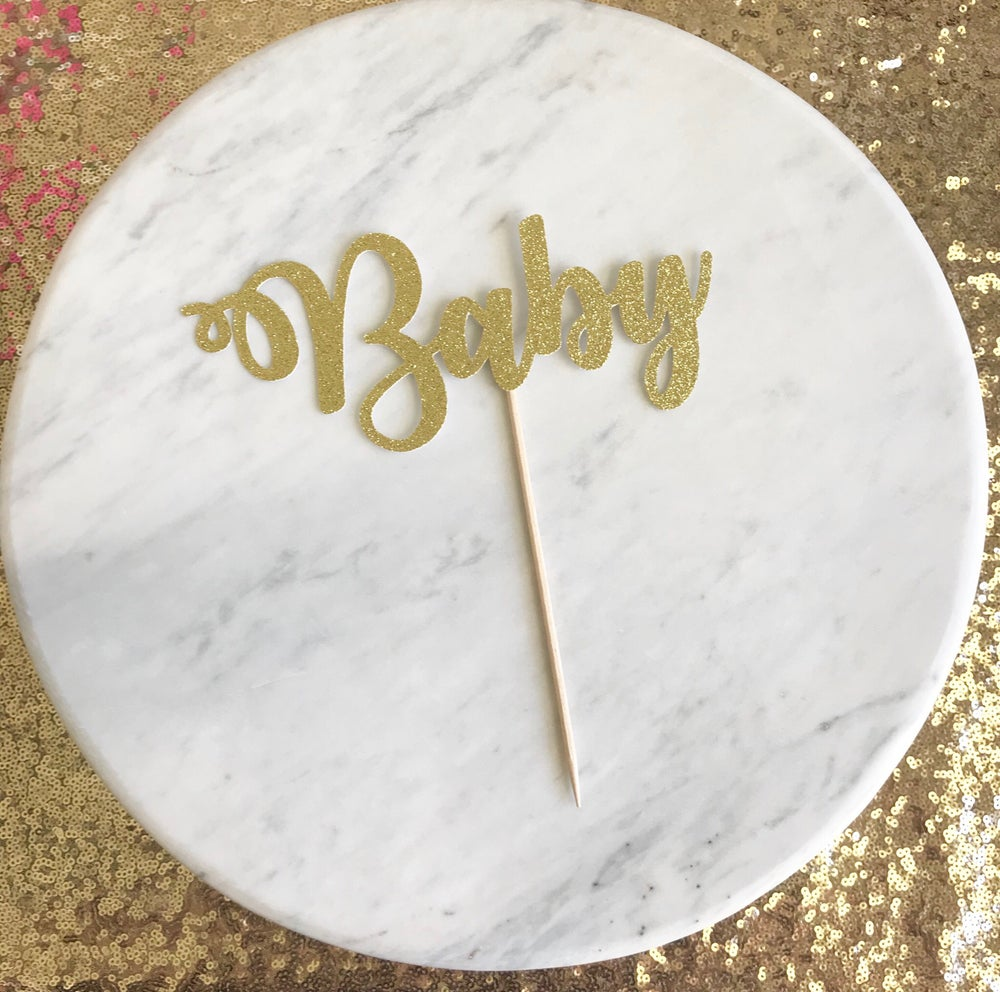 Image of Baby Shower Cake Topper