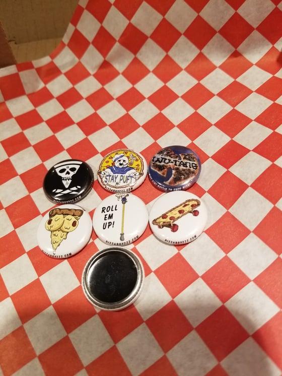 Image of Limited edition pack 1 of 24 half dozen button set + bonus button (jan1-14series)