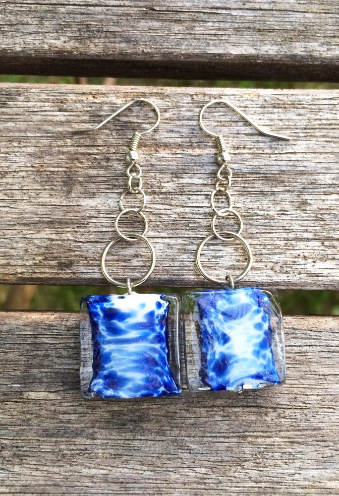Image of Ocean Glass Earrings
