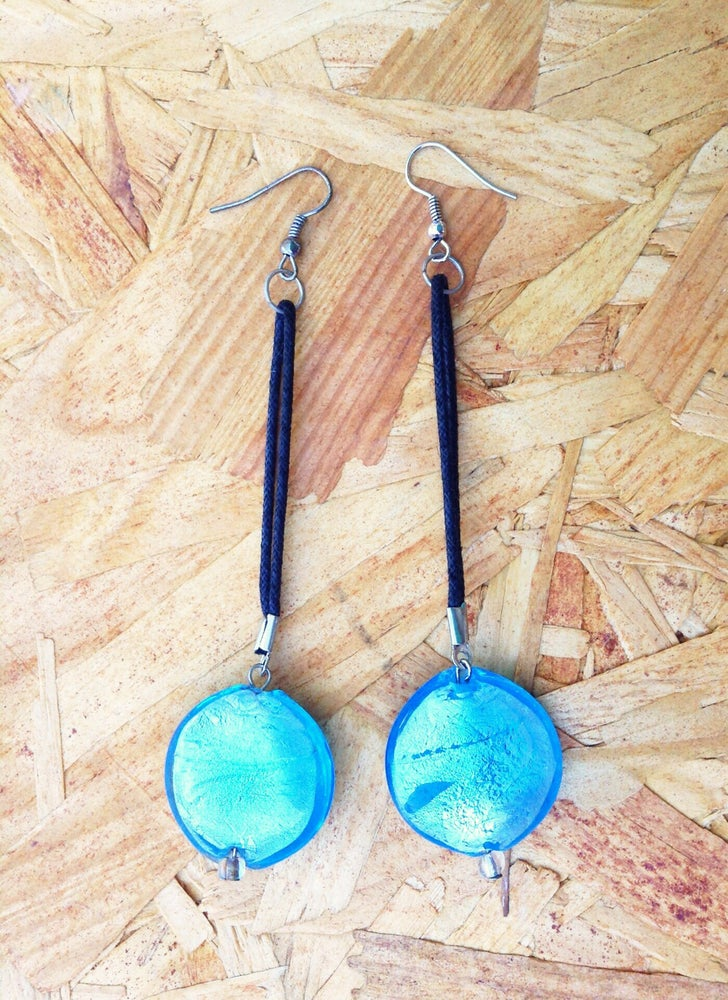 Image of Blueberry Drop Earrings