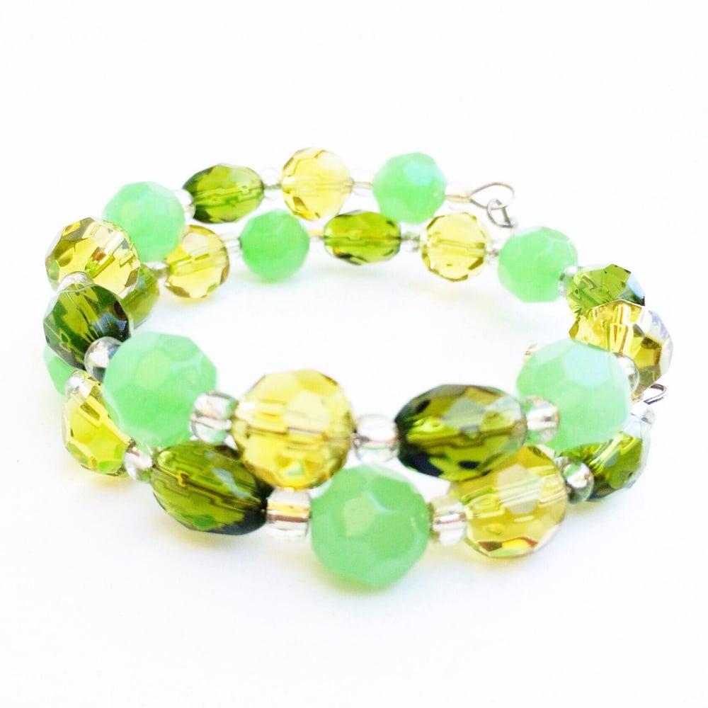 Image of Green Glass Wrap Bracelet