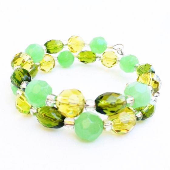 Image of Green Glass Wrap Bracelet