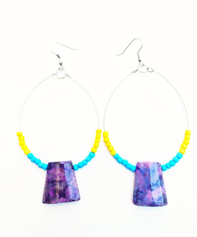Image of Tribal Hoop Earrings